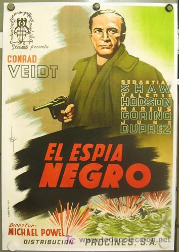 T06889D EL ESPIA NEGRO CONRAD VEIDT MICHAEL POWELL POSTER ORIG ESTRENO 70X100 ENTELADO LITOGRAFIA (Cine - Posters y Carteles - Suspense)