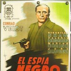 Cine: T06889D EL ESPIA NEGRO CONRAD VEIDT MICHAEL POWELL POSTER ORIG ESTRENO 70X100 ENTELADO LITOGRAFIA. Lote 18347524