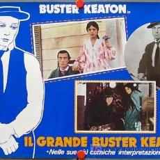 Cine: XH55D EL GRAN CARA DE PALO BUSTER KEATON SET DE 8 POSTER ITALIANOS 47X68. Lote 11880225