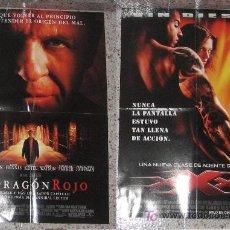 Cine: POSTER EL DRAGON ROJO XXX ANTHONY HOPKINS VIN DIESEL VPA. Lote 14403399