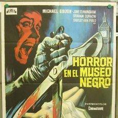 Cine: VC84 HORROR EN EL MUSEO NEGRO MICHAEL GOUGH SOLIGO POSTER ORIGINAL 70X100 ESTRENO. Lote 10781419