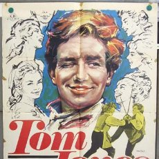 Cine: T06947 TOM JONES ALBERT FINNEY SUSANNAH YORK TONY RICHARDSON MAC POSTER ORIGINAL 70X100 ESTRENO. Lote 7286527
