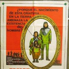 Cine: T06956 HUIDA DEL PLANETA DE LOS SIMIOS POSTER ORIGINAL ARGENTINO 75X110 LITOGRAFIA. Lote 7287031