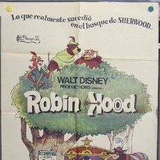Cine: T06974 ROBIN HOOD WALT DISNEY POSTER ORIGINAL 70X100 ESTRENO. Lote 7290048