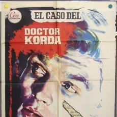 Cine: T06985 EL CASO DEL DOCTOR KORDA HARDY KRUGER POSTER ORIGINAL 70X100 ESTRENO. Lote 7290101