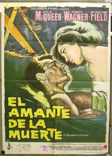 T07000 EL AMANTE DE LA MUERTE STEVE MCQUEEN ROBERT WAGNER POSTER ORIGINAL ESPAÑOL 70X100 ESTRENO (Cine - Posters y Carteles - Suspense)