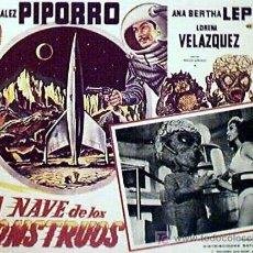Cine: ANA BERTHA LEPE - LA NAVE DE LOS MONSTRUOS - PIPORRO - ROBOT - ORIGINAL LOBBY CARD MEXICANO. Lote 13753339