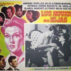 Cine: AMPARO RIVELLES - LOS NOVIOS DE MIS HIJAS - JULIO ALEMAN - JULISSA - ORIGINAL LOBBY CARD MEXICANO. Lote 13767779
