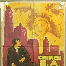 Cine: T07079 CRIMEN S.A. BRIAN KEITH BEVERLY GARLAND POSTER ORIGINAL 70X100 ESTRENO LITOGRAFIA. Lote 7374449
