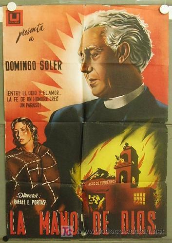 T07172 LA MANO DE DIOS DOMINGO SOLER POSTER ORIGINAL 70X100 ESTRENO LITOGRAFIA (Cine- Posters y Carteles - Drama)