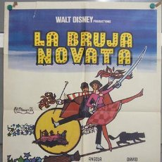 Cine: T07109 LA BRUJA NOVATA WALT DISNEY POSTER 70X100 ORIGINAL ESTRENO. Lote 7501610