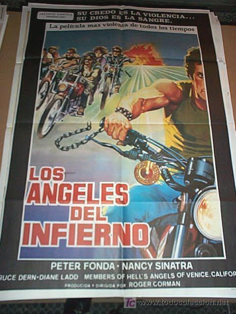 LOS ANGELES DEL INFIERNO CON JANE FONDA Y NACY SINATRA POSTER ORIGINAL DE 70X100CM (Cine - Posters y Carteles - Suspense)
