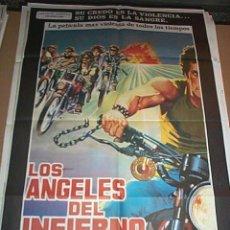 Cine: LOS ANGELES DEL INFIERNO CON JANE FONDA Y NACY SINATRA POSTER ORIGINAL DE 70X100CM. Lote 176956899