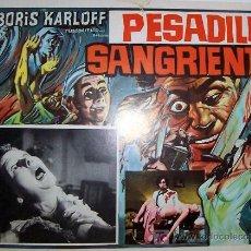 Cine: BORIS KARLOFF - PESADILLA SANGRIENTA - TERROR - ORIGINAL LOBBY CARD MEXICANO . Lote 14085106
