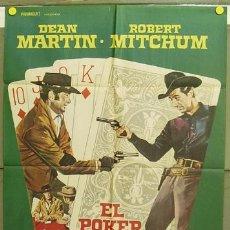 T07148 EL POKER DE LA MUERTE DEAN MARTIN ROBERT MITCHUM POSTER ORIGINAL 70X100 ESTRENO