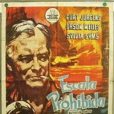 Cinema: T07204 ESCALA PROHIBIDA CURD JURGENS ORSON WELLES SYLVIA SYMS CIFESA POSTER ORIGINAL 70X100 ESTRENO. Lote 7569412