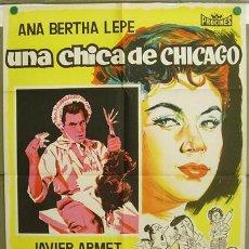 Cine: T07210 UNA CHICA DE CHICAGO ANA BERTHA LEPE MANUEL MUR OTI POSTER 70X100 ESTRENO LITOGRAFIA. Lote 7572937
