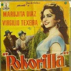 Cine: T07297 POLVORILLA MARUJITA DIAZ FLORIAN REY VIRGILIO TEIXEIRA POSTER ORIGINAL 70X100 ESTRENO. Lote 7639038