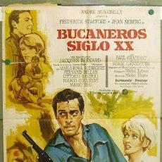 Cine: T07291 BUCANEROS SIGLO XX FREDERICK STAFFORD JEAN SEBERG SERGE GAINSBOUROUG POSTER 70X100 ESTRENO. Lote 7639157