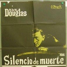 T07292 SILENCIO DE MUERTE KIRK DOUGLAS POSTER ORIGINAL 70X100 ESTRENO