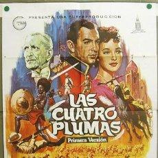 Cine: T07305 LAS CUATRO PLUMAS ZOLTAN KORDA JOHN CLEMENTS ALVARO POSTER ORIGINAL 70X100 ESPAÑOL R-78. Lote 7670618