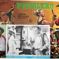 Cine: GLENN FORD - WESTERN - PISTOLERO - ANGIE DICKINSON - RICHARD THORPE - ORIGINAL LOBBY CARD MEXICANO. Lote 14099846