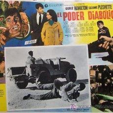 Cine: YVONNE DE CARLO - EL PODER DIABOLICO - GEORGE HAMILTON - ORIGINAL LOBBY CARD MEXICANO. Lote 14113246