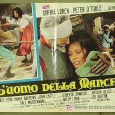 Cine: T07329 EL HOMBRE DE LA MANCHA DON QUIJOTE CERVANTES PETER O'TOOLE POSTER ORIGINAL ITALIANO 47X68. Lote 7672078