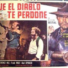 Cine: SPAGHETTI WESTERN - QUE EL DIABLO TE PERDONE - TERENCE HILL - BUD SPENCER - LOBBY CARD MEXICANO. Lote 13966939