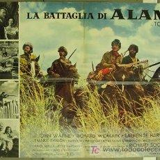 Cine: VE63D EL ALAMO JOHN WAYNE TODD-AO POSTER ORIGINAL ITALIANO 68X94. Lote 7660960