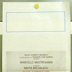 Cine: T07380 OJOS NEGROS MARCELLO MASTROIANNI NIKITA MIKHALKOV POSTER ORIGINAL 33X70 ITALIANO. Lote 7689495