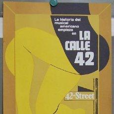 Cine: T07405 LA CALLE 42 BUSBY BERKELEY POWELL ROGERS KEELER POSTER ORIGINAL 33X50 ESPAÑOL RARO. Lote 7734977