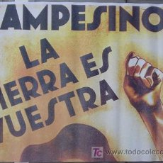 Cine: T07398 CAMPESINOS GUERRA CIVIL ESPAÑOLA POSTER 70X100 PARA RODAJES DE PELICULAS SOBRE EL TEMA. Lote 7735115