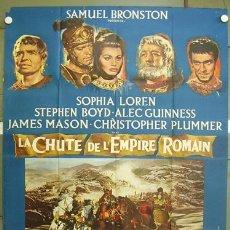Cine: VU98D LA CAIDA DEL IMPERIO ROMANO SOFIA LOREN ANTHONY MANN POSTER ORIGINAL FRANCES 120X160. Lote 11681801