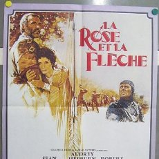 Cine: T07446 LA GRAN AVENTURA DE ROBIN Y MARIAN AUDREY HEPBURN SEAN CONNERY POSTER ORIGINAL FRANCES 60X80. Lote 7740277
