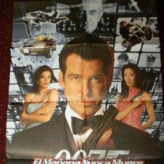 Cine: EL MAÑANA NUNCA MUERE (CARTEL ORIGINAL) 007. Lote 29988896