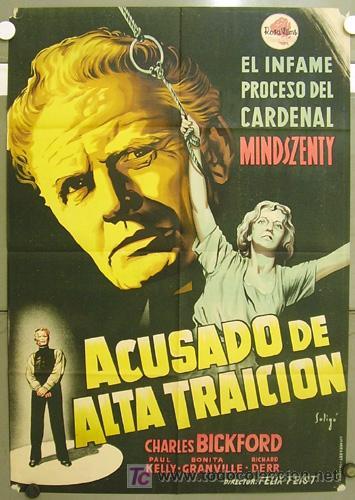 T07458 ACUSADO DE ALTA TRAICION CHARLES BICKFORD SOLIGO POSTER ORIGINAL ESTRENO 70X100 LITOGRAFIA (Cine- Posters y Carteles - Drama)