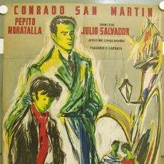 Cine: T07480 SIN LA SONRISA DE DIOS CONRADO SAN MARTIN POSTER ORIGINAL 70X100 ESTRENO LITOGRAFIA. Lote 7802860