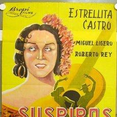 Cine: T07478 SUSPIROS DE ESPAÑA ESTRELLITA CASTRO BENITO PEROJO POSTER ORIGINAL 70X100 LITOGRAFIA. Lote 11294141