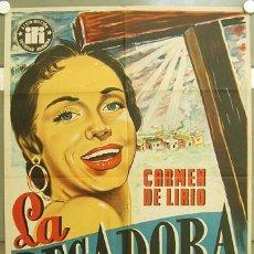 Cine: T07485 LA PECADORA CARMEN DE LIRIO IGNACIO F. IQUINO POSTER ORIGINAL 70X100 ESTRENO LITOGRAFIA. Lote 9230270