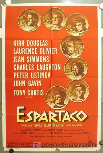 T07534 ESPARTACO STANLEY KUBRICK KIRK DOUGLAS POSTER ORIGINAL 70X100 ESTRENO (Cine - Posters y Carteles - Aventura)
