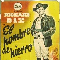 Cine: ZM10D EL HOMBRE DE HIERRO RICHARD DIX JANE WYATT POSTER ORIGINAL 70X100 ESTRENO LITOGRAFIA. Lote 18329523