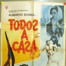 Cine: CR20 TODOS A CASA ALBERTO SORDI MAC POSTER ORIGINAL 70X100 ESTRENO. Lote 7796592