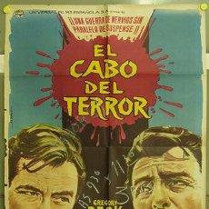 Cine: T07560 EL CABO DEL TERROR ROBERT MITCHUM GREGORY PECK POSTER ORIGINAL 70X100 ESTRENO. Lote 13409892