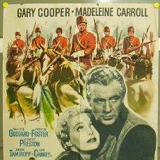 Cine: T07562 POLICIA MONTADA DEL CANADA GARY COOPER MADELEINE CARROLL DEMILLE MAC POSTER ORIGINAL 70X100. Lote 11474307