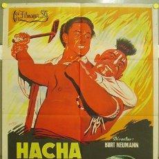 Cine: ZQ11D HACHA DE GUERRA SCOTT BRADY RITA GAM INDIOS POSTER ORIGINAL 70X100 ESTRENO LITOGRAFIA. Lote 9304935