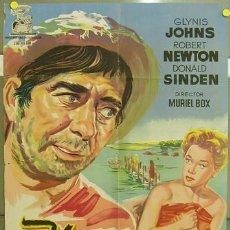 Cine: T07570 EL VAGABUNDO DE LAS ISLAS ROBERT NEWTON GLYNIS JOHNS POSTER ORIGINAL 70X100 ESTREN LITOGRAFIA. Lote 7844557