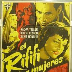 Cine: ZM12D EL RIFIFI Y LAS MUJERES NADJA TILLER ROBERT HOSSEIN SOLIGO POSTER ESTRENO 70X100 LITOGRAFIA. Lote 7850704