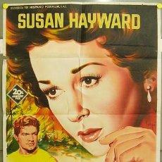 Cine: T07626 LA MUJER OBSESIONADA SUSAN HAYWARD SOLIGO POSTER ORIGINAL ESTRENO 70X100 LITOGRAFIA. Lote 16592900