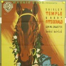 Cine: T07629 A RIENDA SUELTA SHIRLEY TEMPLE CARRERAS CABALLOS POSTER ORIGINAL ESTRENO 70X100 LITOGRAFIA. Lote 18347523